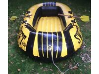Inflatable 2 Man Dinghy Complete With 2 Oars £10.00