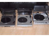 SONY/BUSH RECORD PLAYERS ONE BUILT IN SPEAKERS 25 POUND EACH