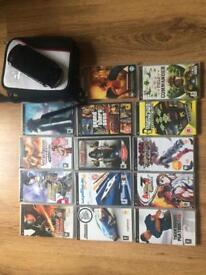 Psp, bag, charger, 13 games and move