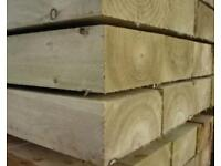 New treated Landscape Sleepers 7 x 2.4 metres (200 x 100)