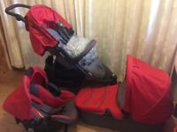 Hauck Viper Trio Set Travel System in red