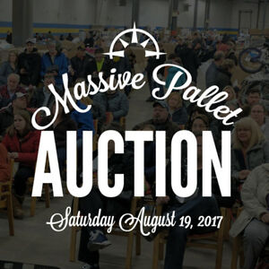 PALLET AUCTION - This Saturday August 19, 2017