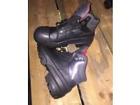 Steel toe capped work boots size 9
