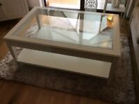 Hemnes Glass Top Coffee Table