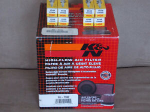 K&N Air Filter with Spark Plugs