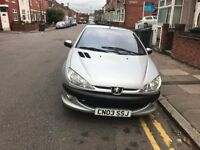 PEUGEOT 206CC COVERTIBLE 1.4 SILVER 2003 FULL MOT 2018 £695
