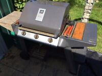 3 burners gas barbecue, gas bottle nearly full, complete in good order