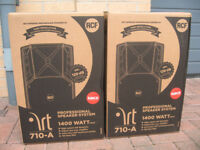 SALE - 2 x RCF ART 710A Mk2 Active PA Speakers (700 Watt RMS) NEW