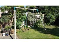 Plum wooden swing and rocker