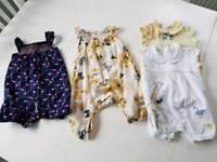 Baby girls 0-3 months romper bundle