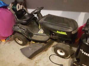"38"" poulan riding lawnmower."
