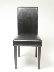 Chaise table à diner en cuir noir neuf jamais utiliser.