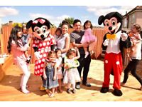 KIDS MASCOTS Entertainer & CLOWN, MINNIE MICKEY MOUSE SPIDERMAN Balloon modeller FACE PAINTER BATMAN