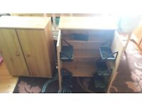 Pair of video/dvd cuboards -Free