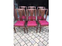 Dining table and 6 chairs - mahogany BARGAIN