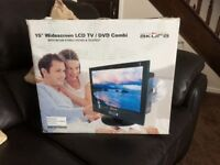 Akura 15inch widescreen Lcd Tv/DVD combo with separate digi box