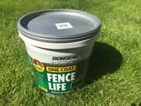 Unopened Ronseal One Coat Fence Life in Forest Green 9L
