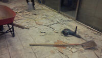 LOOKING FOR TILE REMOVAL CONTRACT