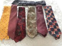 Men's silk ties