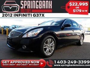 2012 INFINITI G37 X w/Leather, Sunroof $139B/W INSTANT APPROVAL,