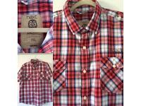 Men's NEXT 2XL Red White & Navy Checked Shirt