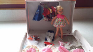 Vintage Tutti Dolls ( Barbie's sister), Cases and Clothes