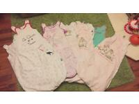 8 x 12-18 month baby Girls Sleeping Bags bundle