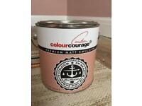 New tin Colour Courage 2.5l paint - Rosewood Shade