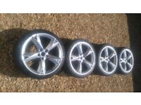 "18"" Audi A5 style wheels - 5x110 5x112 Fits *VW GOLF ASTRA A3 SEAT*"