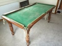 Snooker Table / Pool Table - Quarter Size 6x3