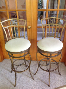 Sturdy iron Bar Height Swivel STOOLS 2/60.00