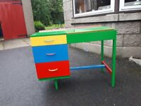 Child's painted desk/dressing table