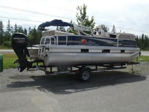 Used 2013 Sun Tracker 18 DLX Party Barge for only $18,900.00!