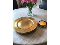 Gold effect Charger Plates & Coasters