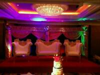 Asian Wedding Stages, Floral Stages, Mehndi Stages, House Lighting, Chair Covers for Hire