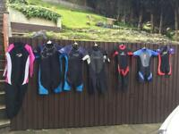 Selection of wetsuits