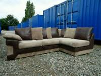 Gorgeous Corner Sofa +Footstool Brown/Mocha *Excellent Clean Condition*