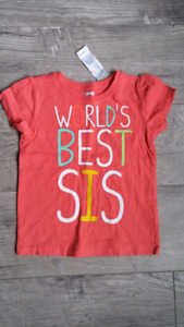 18-24 month worlds best sis shirt