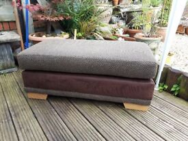 Foot Stool - Large, Brown cloth