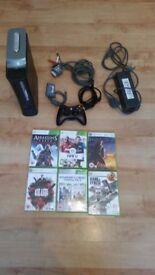 Microsoft Xbox 360 Elite 20GB Matte Black Console FULLY WORKING 1 CONTROLLER