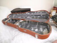 VINTAGE LEATHER CLASSIC JAEGAR ETUI FULL SIZE VIOLIN LEATHER VELVET LINED HARD SHELL CASE STAMPED