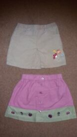 2 girl's skirts, age 2. £1 for both