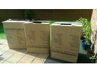 3 x large boxes for moving, packing etc