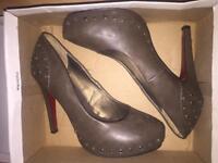 Studded high heels size 5 hardly worn