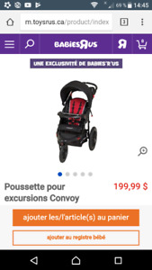 Poussette Convoy 3 roues+Coquille Baby trend