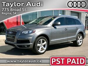 2011 Audi Q7 3.0 Sport 1 OWNER, PST PAID, NAV, TECH PKG, TOW...