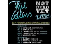 2 tickets to see Phil Collins at Manchester Arena