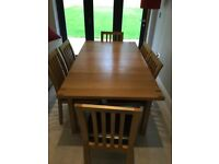 John Lewis Rectangular 4 6 Seater Extending Dining Table In Oak Plus Chairs With