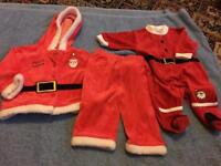 2 BABIES CHRISTMAS SUITS. 0-3, 3-6 MONTHS