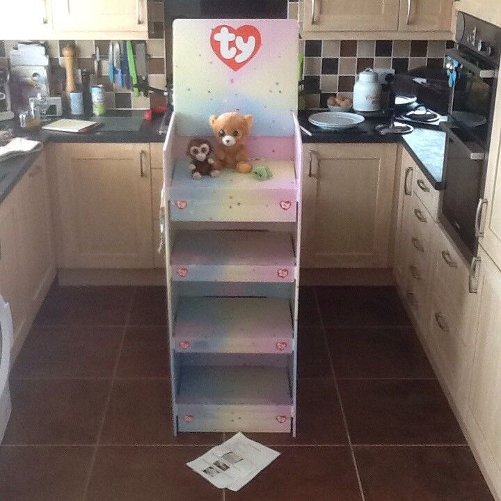 Brand new boxed and sealed shop display TY soft toy Beanie Boo stand 02b51ec2611